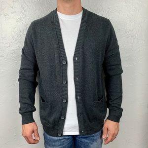 Men's NWT express slate gray cardigan sz L